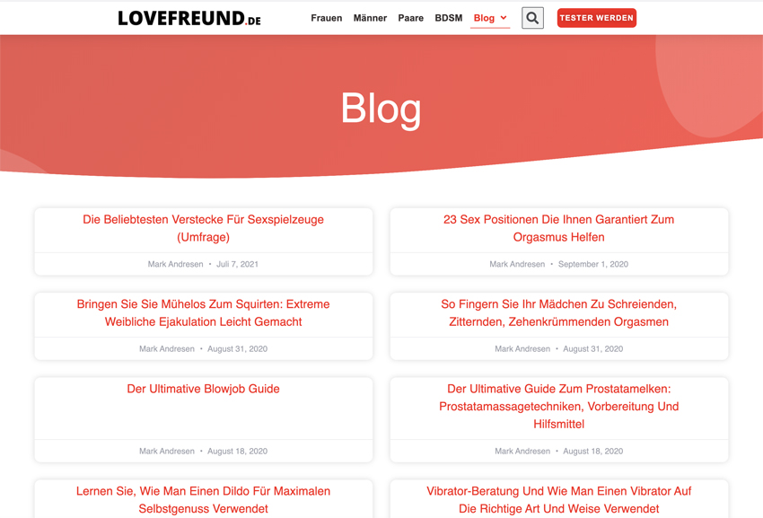 Muschi selber bauen Lovefreund.de Blog